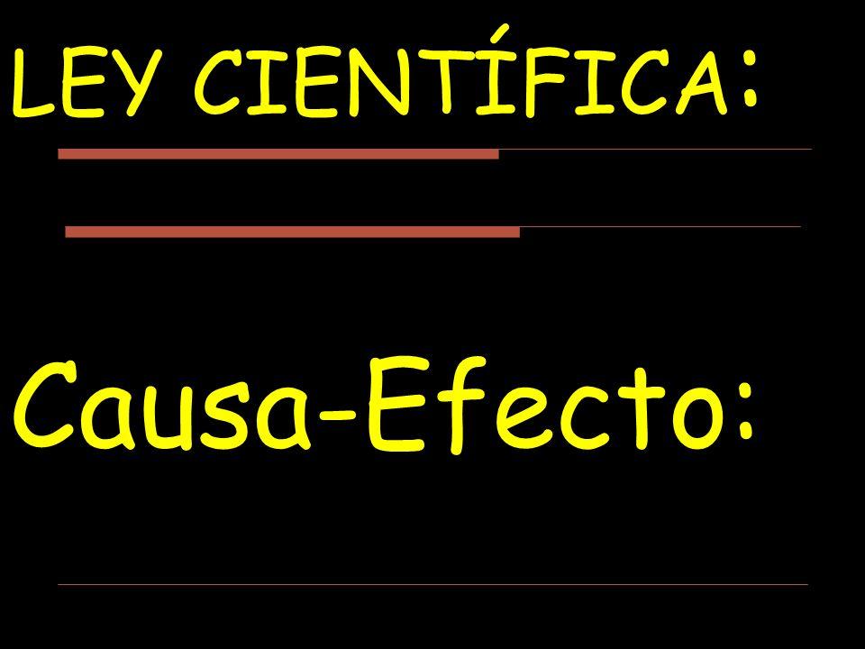LEY CIENTÍFICA: Causa-Efecto: