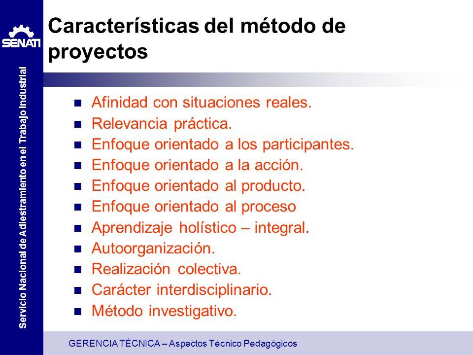 Características del método de proyectos
