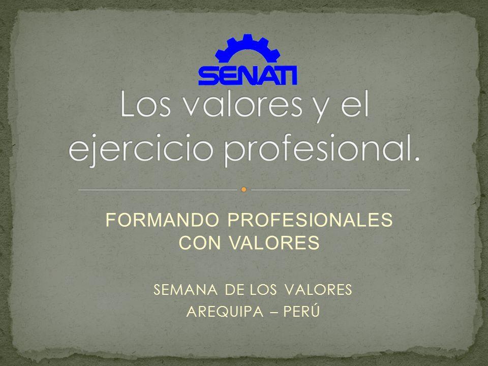 Los valores y el ejercicio profesional.