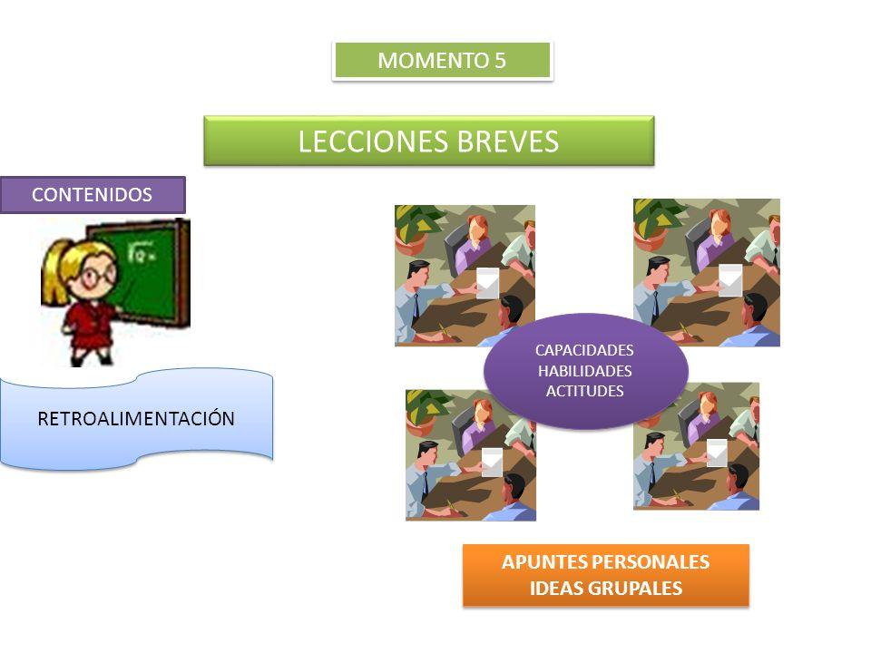 LECCIONES BREVES MOMENTO 5 CONTENIDOS RETROALIMENTACIÓN