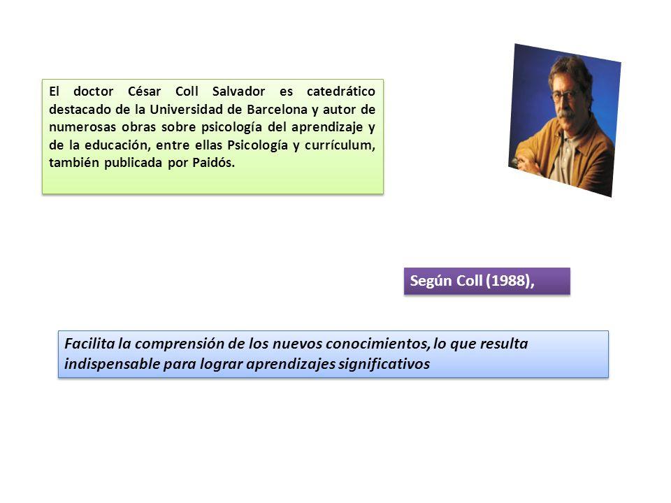 El doctor César Coll Salvador es catedrático destacado de la Universidad de Barcelona y autor de numerosas obras sobre psicología del aprendizaje y de la educación, entre ellas Psicología y currículum, también publicada por Paidós.