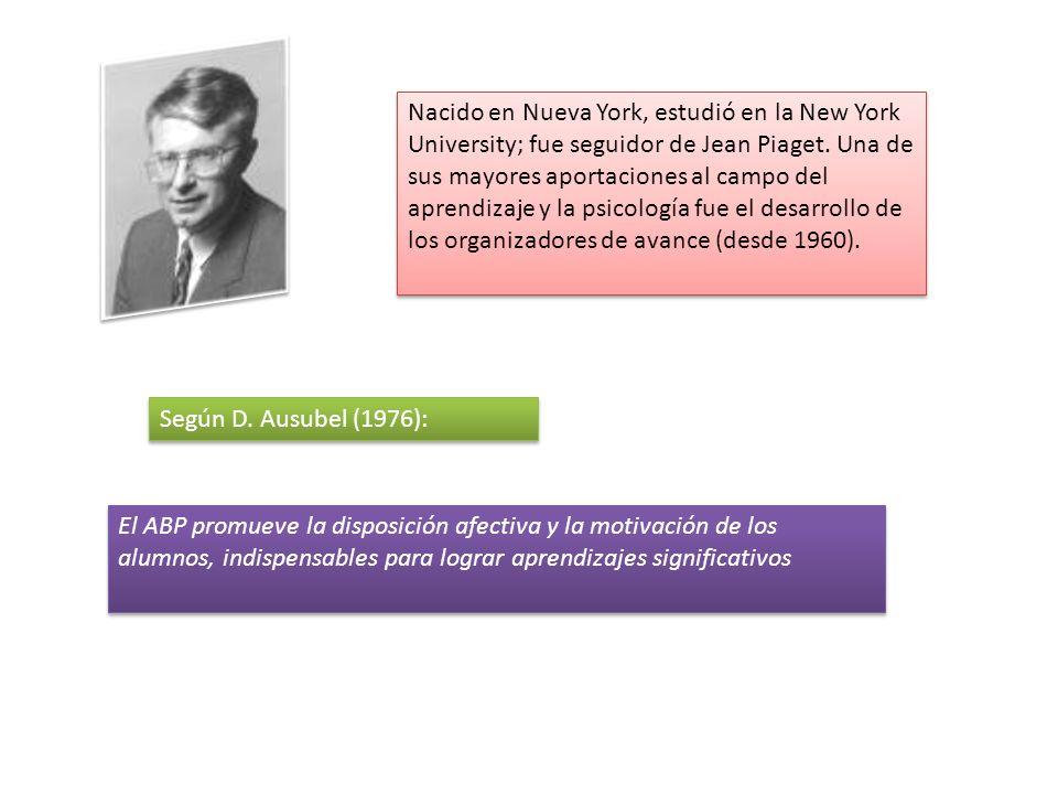 Nacido en Nueva York, estudió en la New York University; fue seguidor de Jean Piaget. Una de sus mayores aportaciones al campo del aprendizaje y la psicología fue el desarrollo de los organizadores de avance (desde 1960).