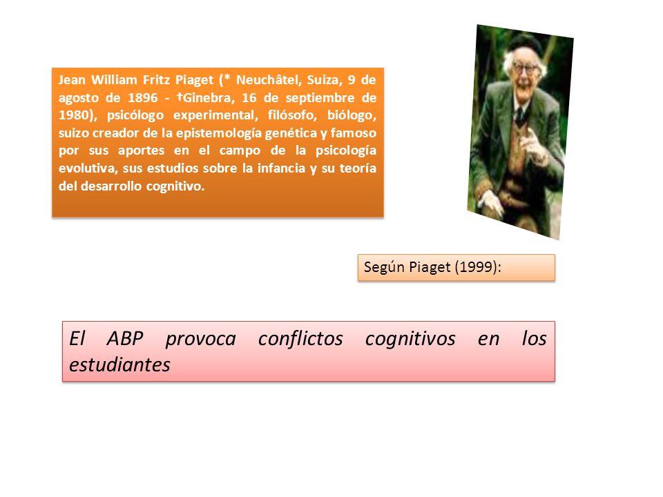 El ABP provoca conflictos cognitivos en los estudiantes
