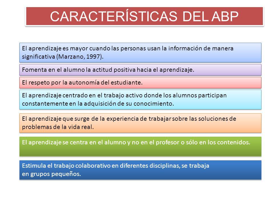 CARACTERÍSTICAS DEL ABP