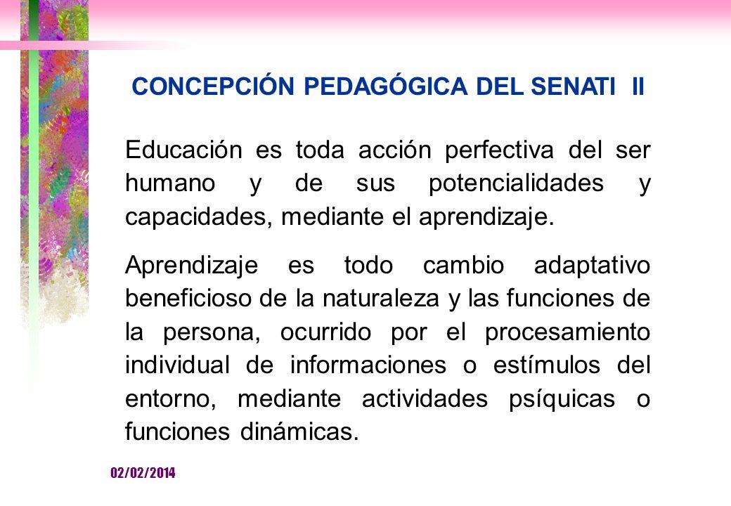 CONCEPCIÓN PEDAGÓGICA DEL SENATI II