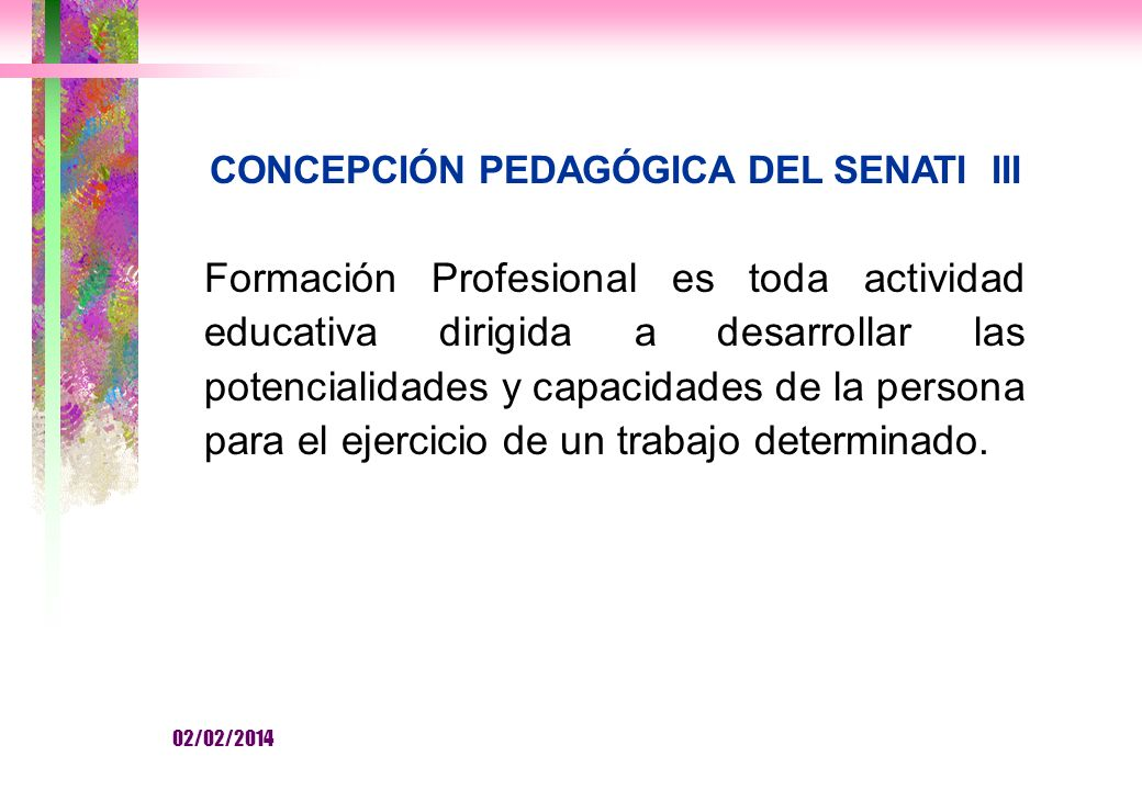 CONCEPCIÓN PEDAGÓGICA DEL SENATI III