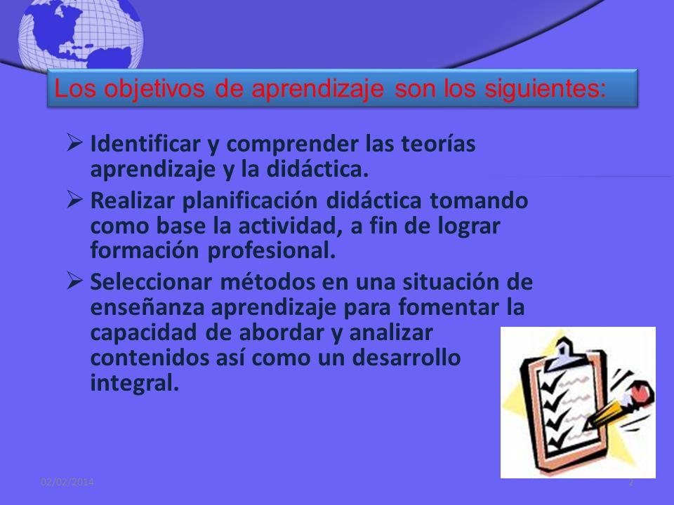 Los objetivos de aprendizaje son los siguientes: