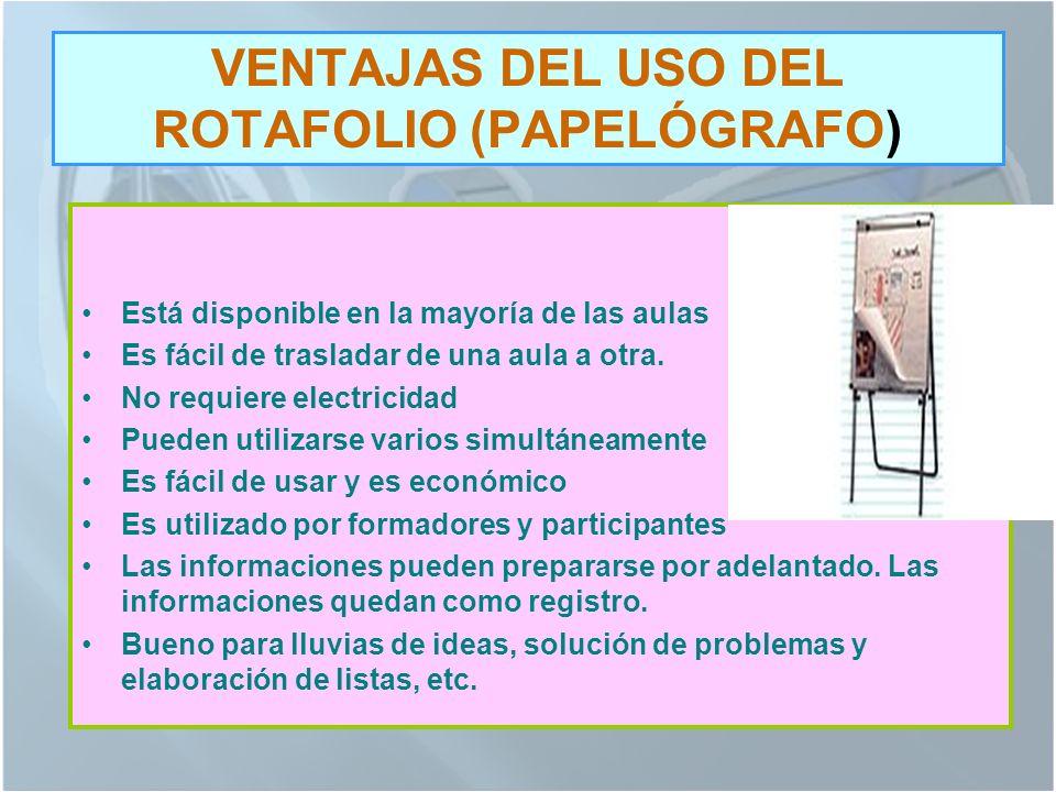 VENTAJAS DEL USO DEL ROTAFOLIO (PAPELÓGRAFO)