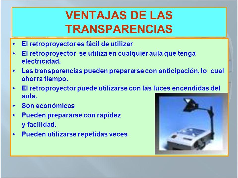 VENTAJAS DE LAS TRANSPARENCIAS