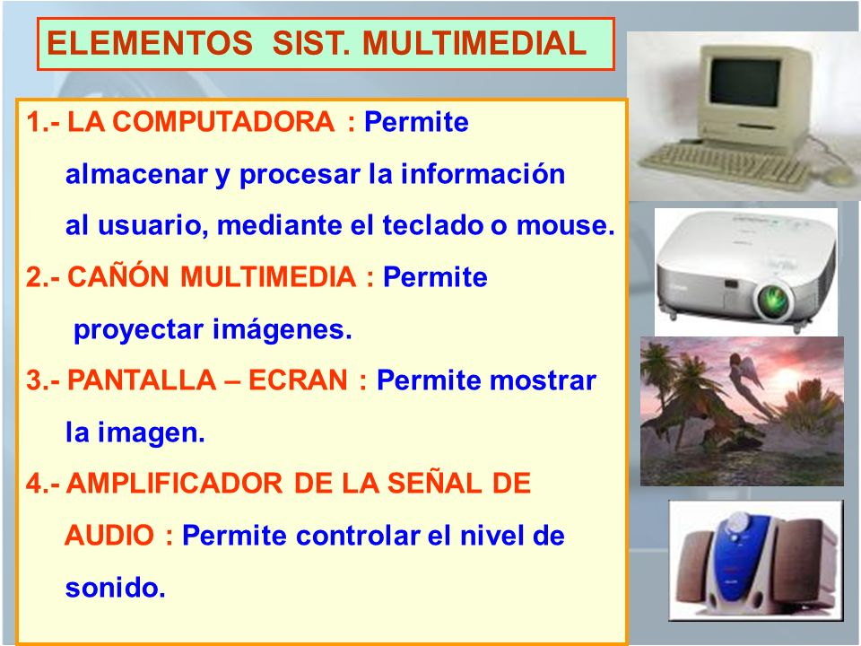 ELEMENTOS SIST. MULTIMEDIAL