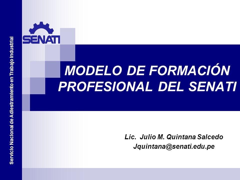 MODELO DE FORMACIÓN PROFESIONAL DEL SENATI