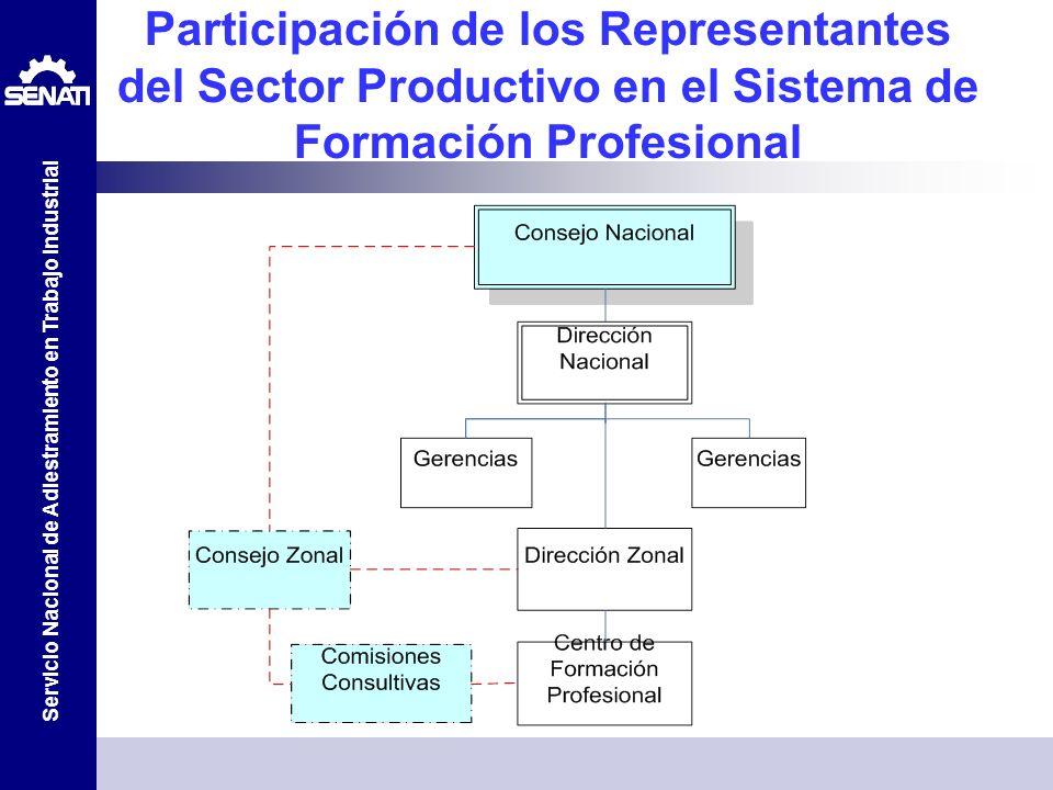 Participación de los Representantes del Sector Productivo en el Sistema de Formación Profesional