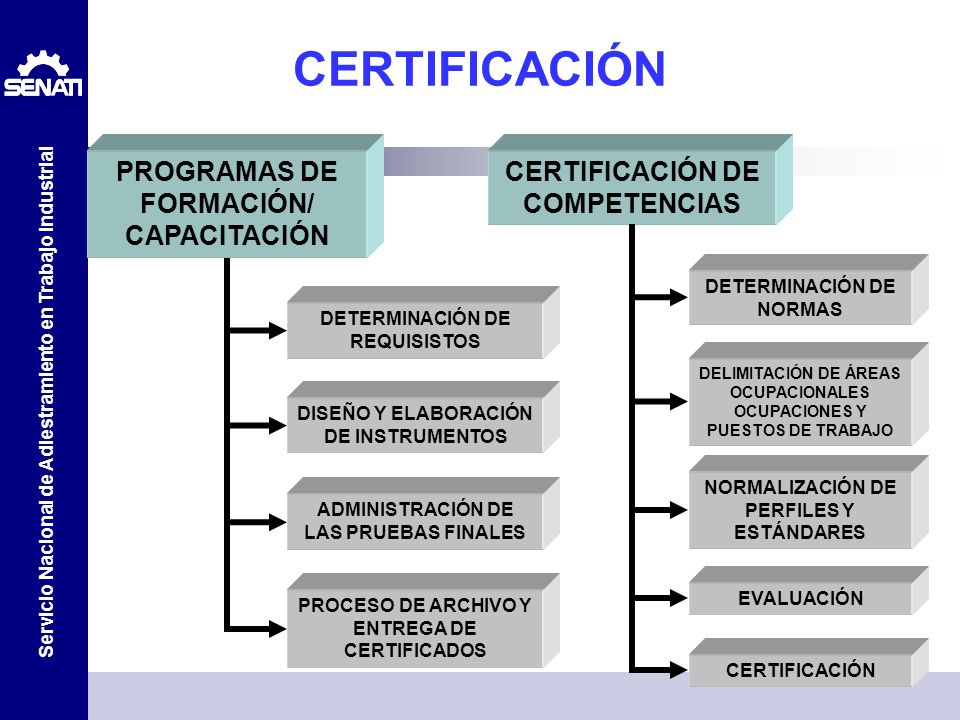 CERTIFICACIÓN PROGRAMAS DE FORMACIÓN/ CAPACITACIÓN