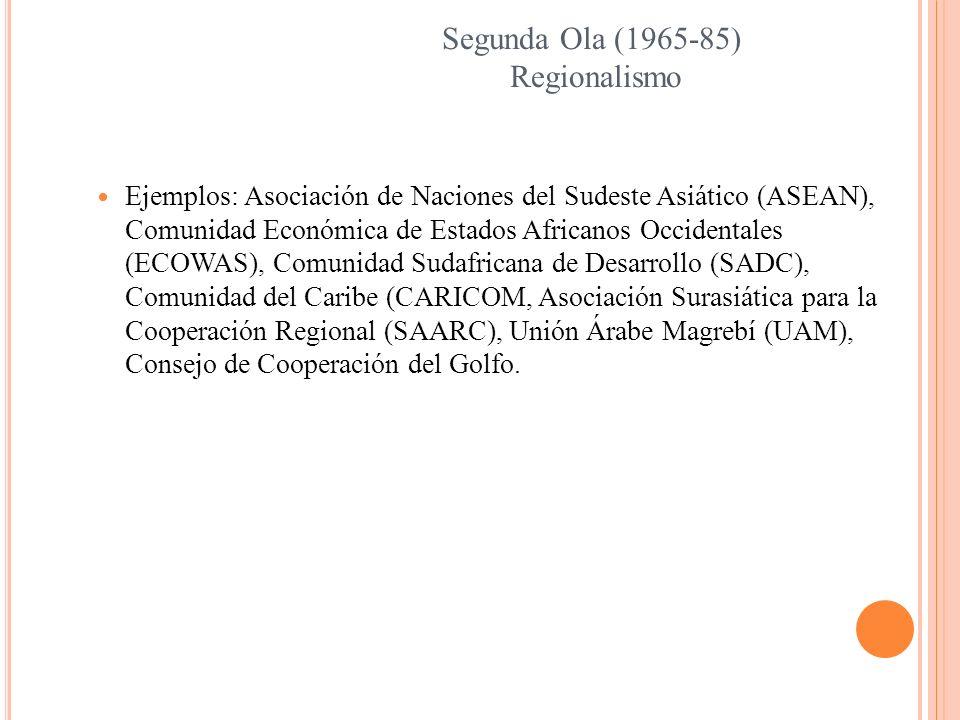 Segunda Ola (1965-85) Regionalismo