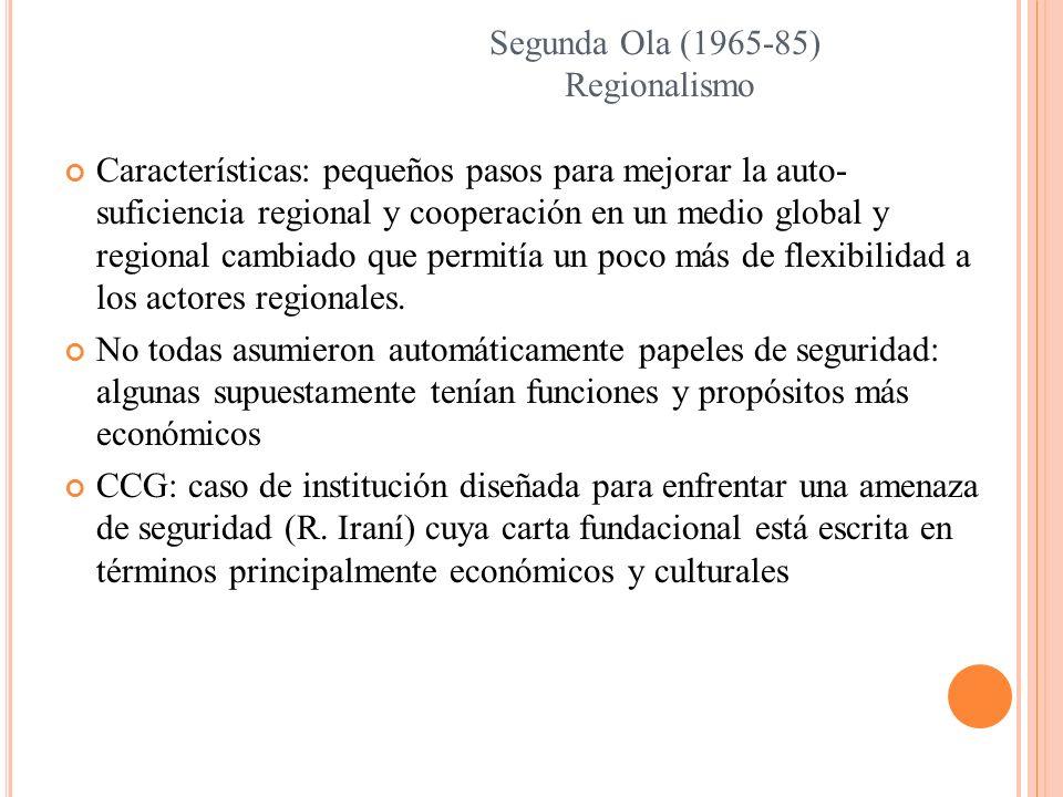 Segunda Ola (1965-85) Regionalismo.