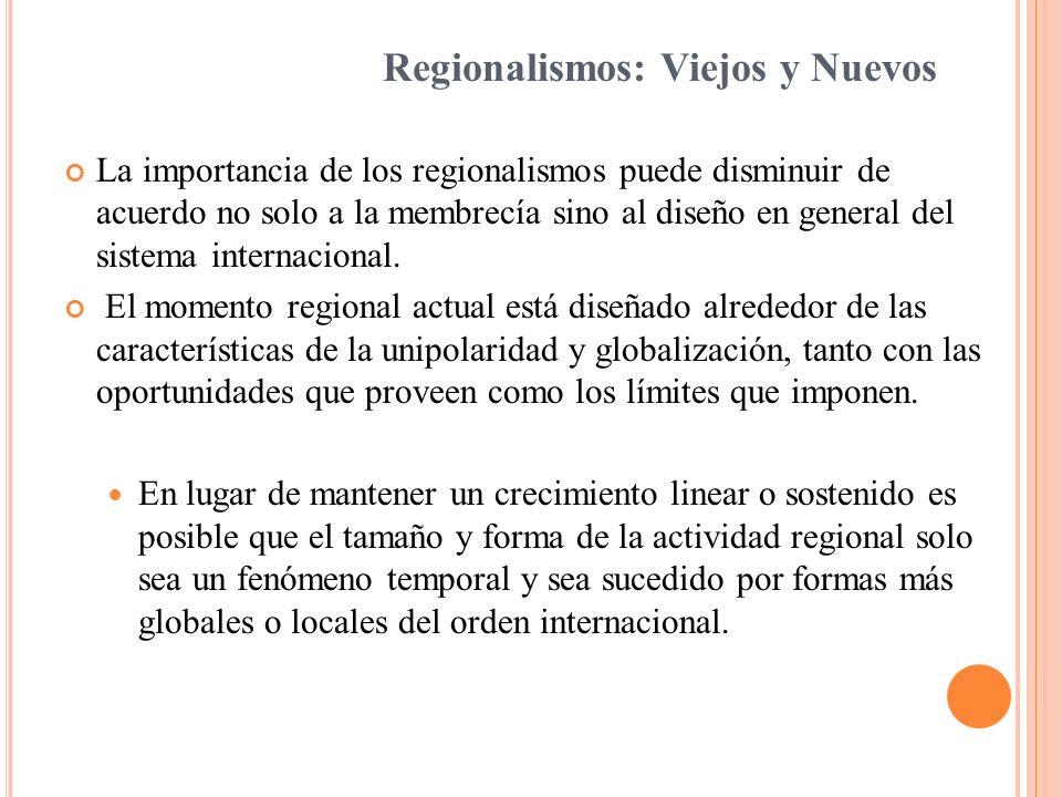 Regionalismos: Viejos y Nuevos