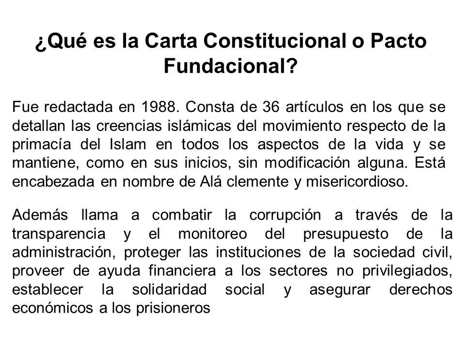 ¿Qué es la Carta Constitucional o Pacto Fundacional
