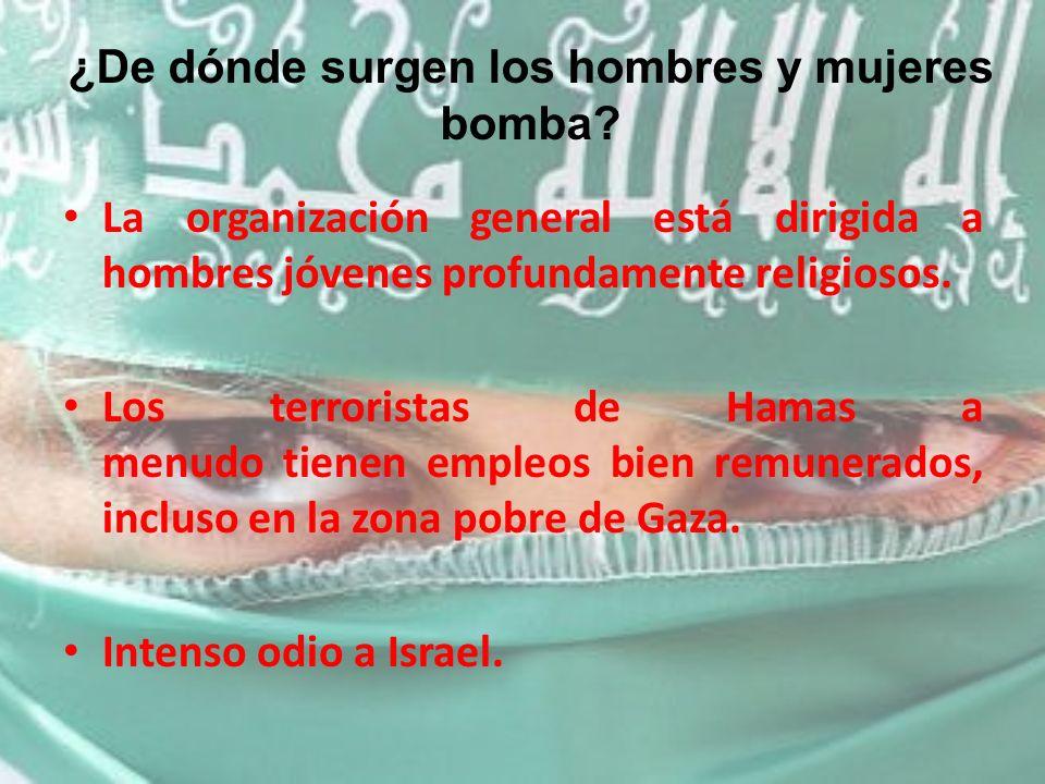¿De dónde surgen los hombres y mujeres bomba
