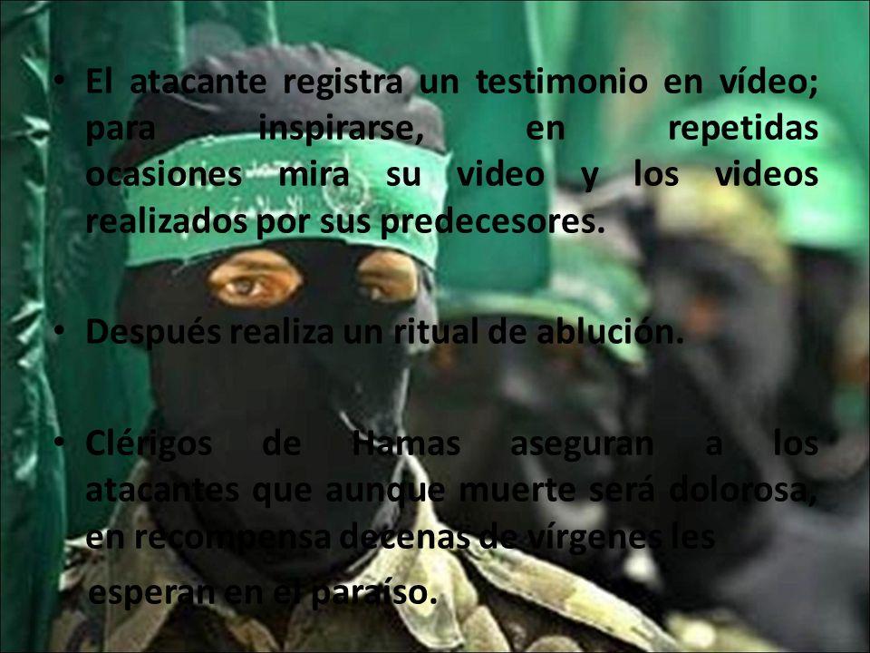 El atacante registra un testimonio en vídeo; para inspirarse, en repetidas ocasiones mira su video y los videos realizados por sus predecesores.