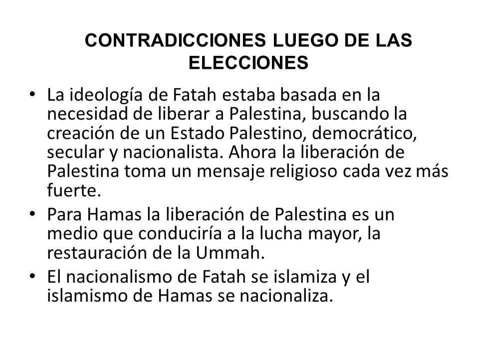 CONTRADICCIONES LUEGO DE LAS ELECCIONES