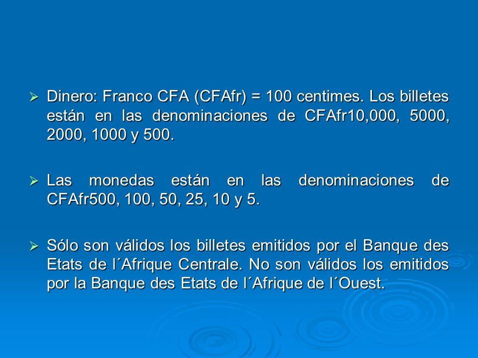 Dinero: Franco CFA (CFAfr) = 100 centimes