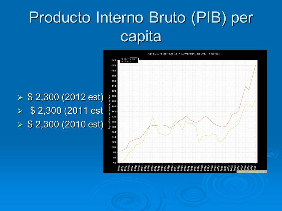 Producto Interno Bruto (PIB) per capita