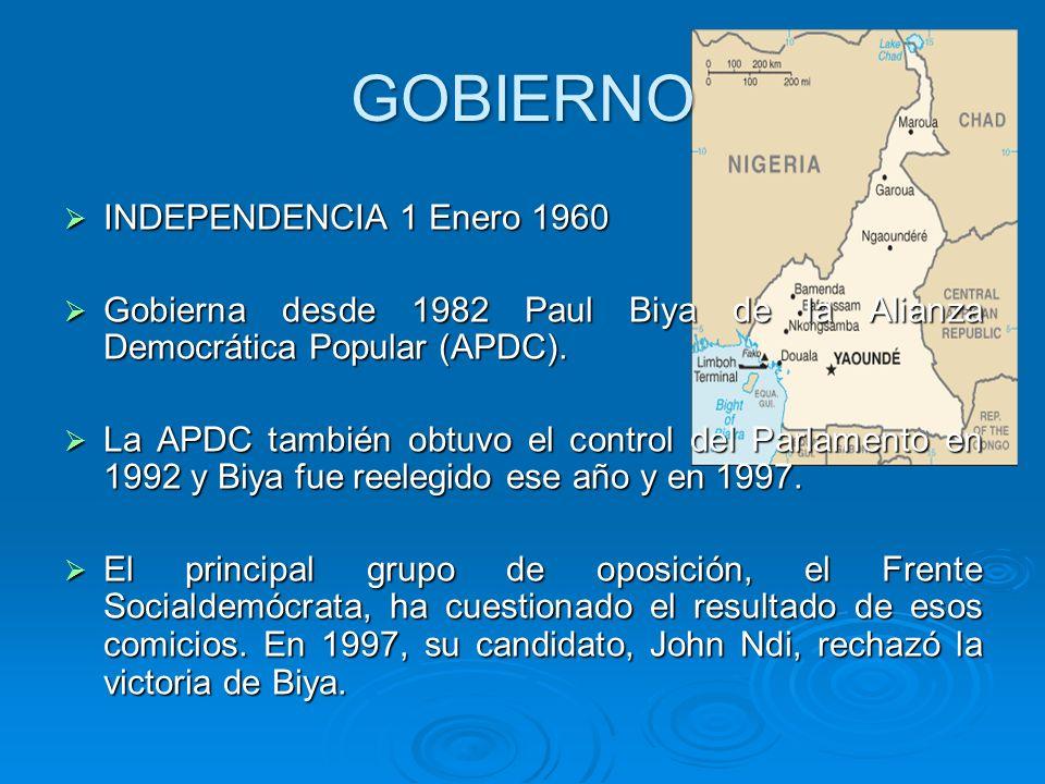 GOBIERNO INDEPENDENCIA 1 Enero 1960