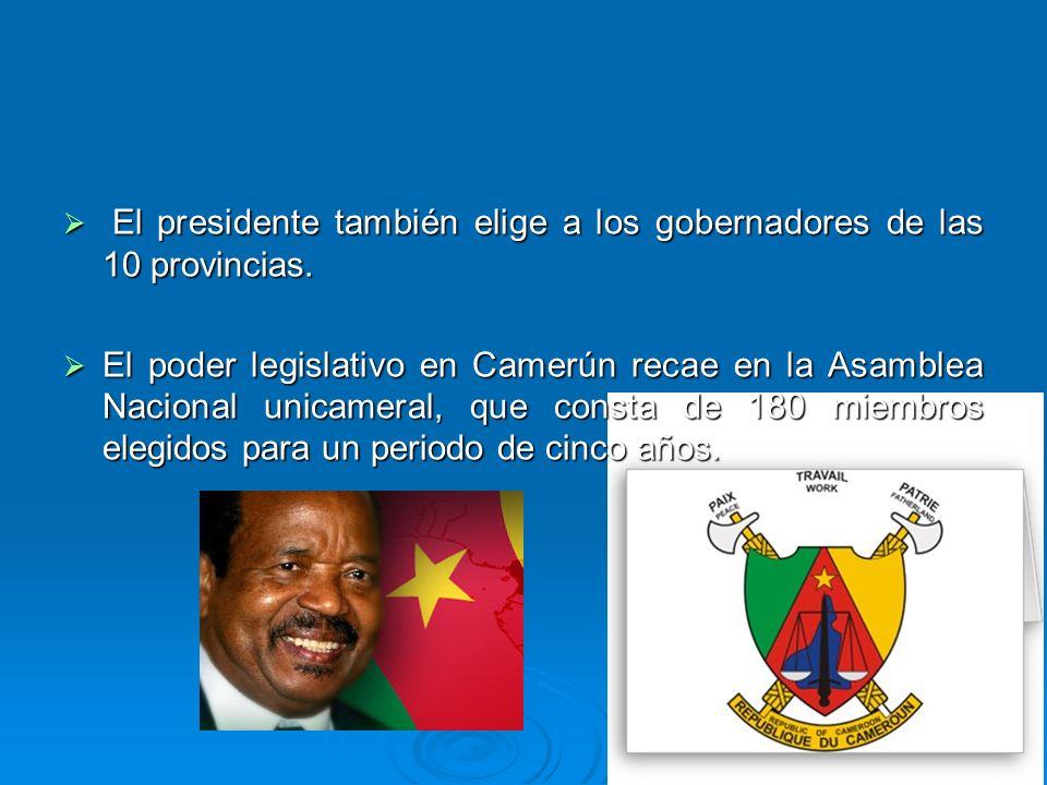 El presidente también elige a los gobernadores de las 10 provincias.