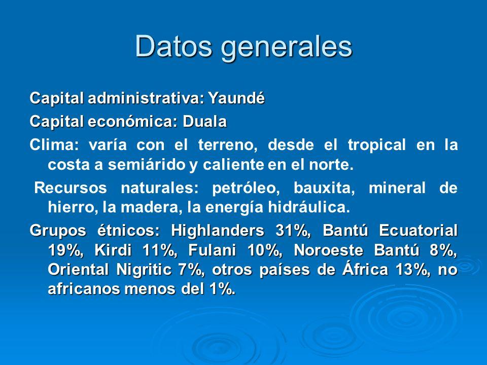 Datos generales Capital administrativa: Yaundé