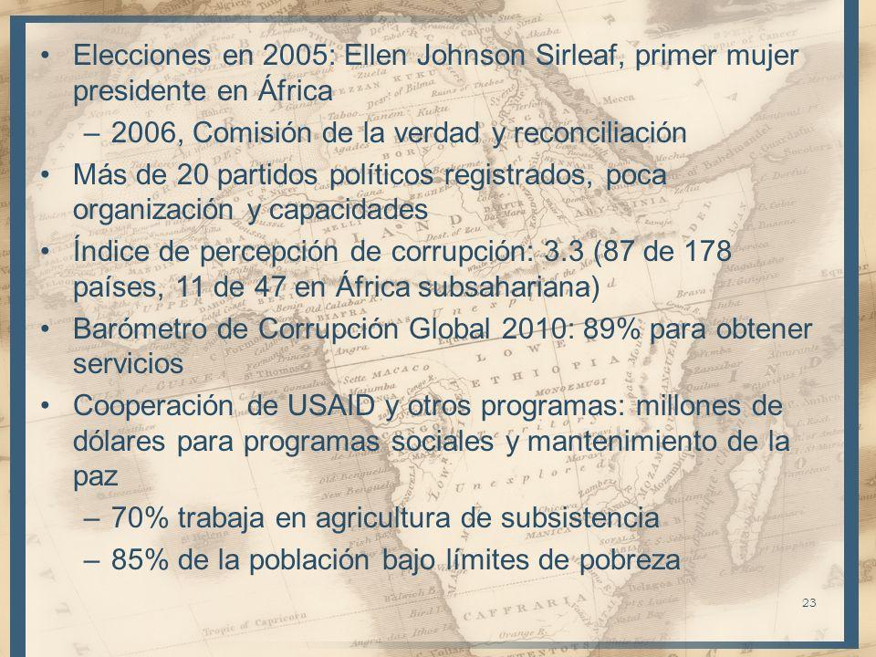 Elecciones en 2005: Ellen Johnson Sirleaf, primer mujer presidente en África