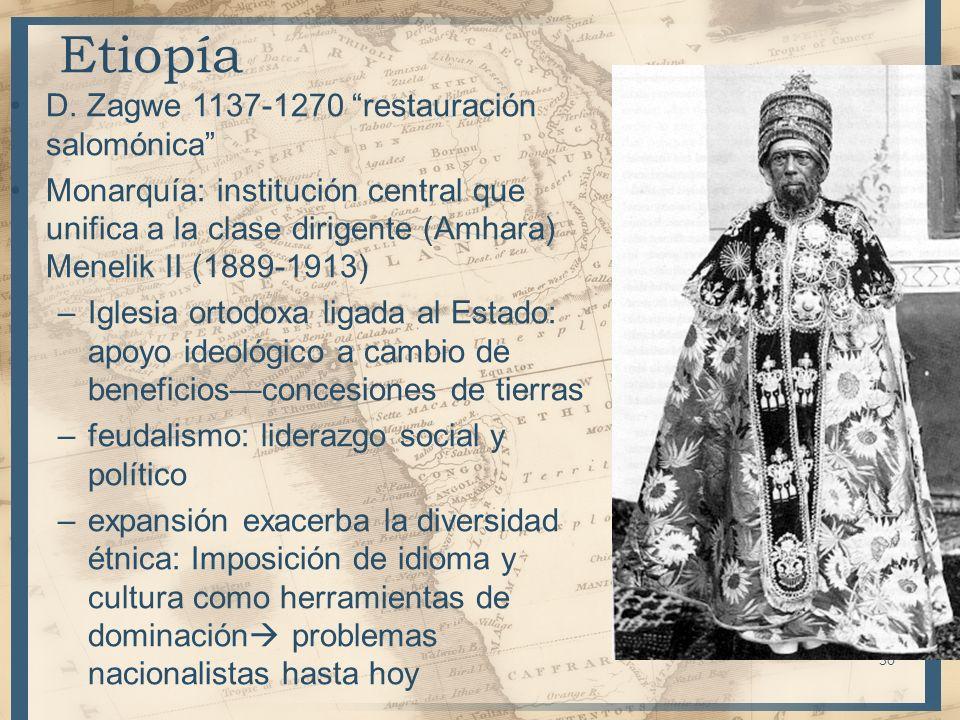 Etiopía D. Zagwe 1137-1270 restauración salomónica
