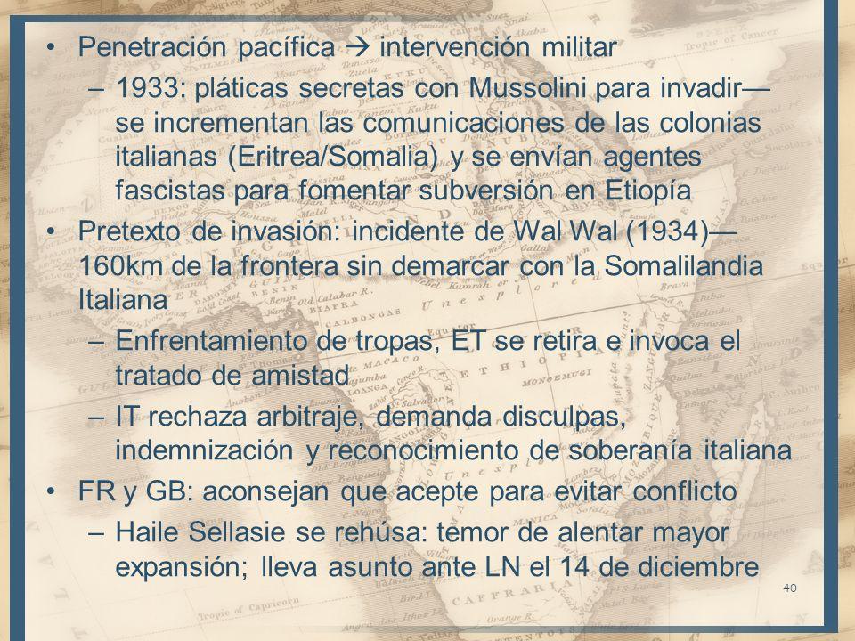 Penetración pacífica  intervención militar