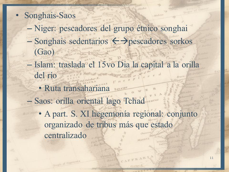 Songhais-Saos Niger: pescadores del grupo étnico songhai. Songhais sedentarios pescadores sorkos (Gao)