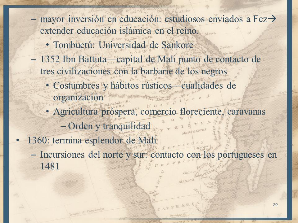 mayor inversión en educación: estudiosos enviados a Fez extender educación islámica en el reino.