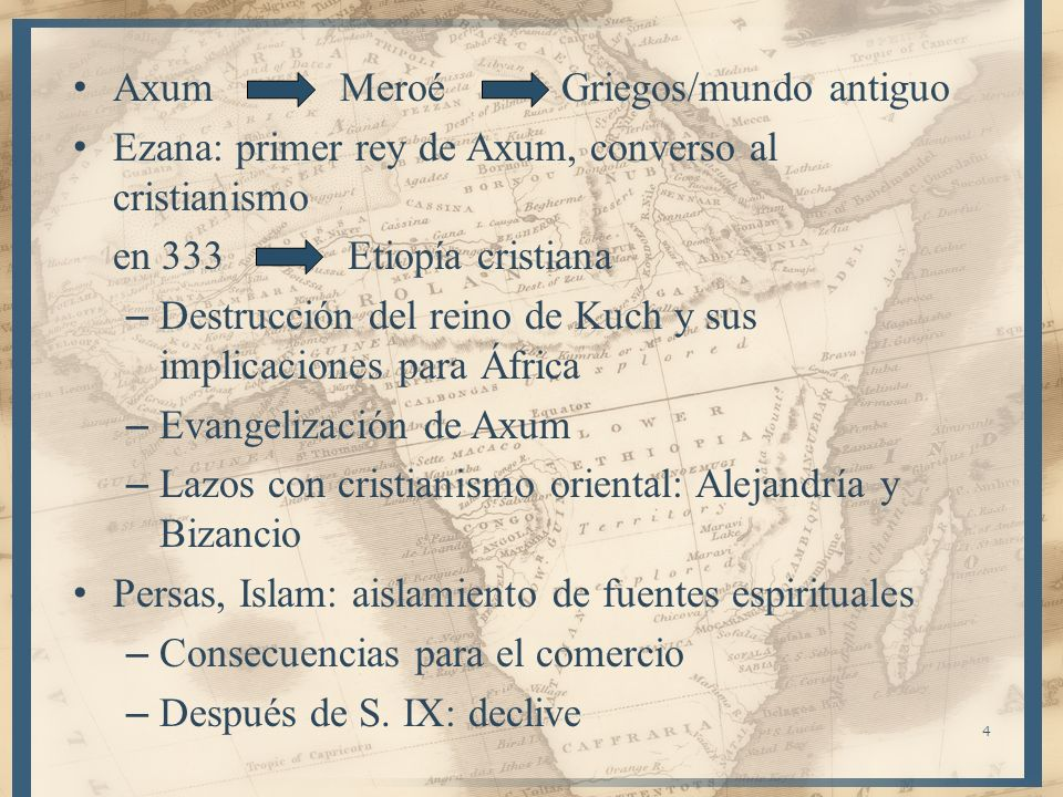 Axum Meroé Griegos/mundo antiguo