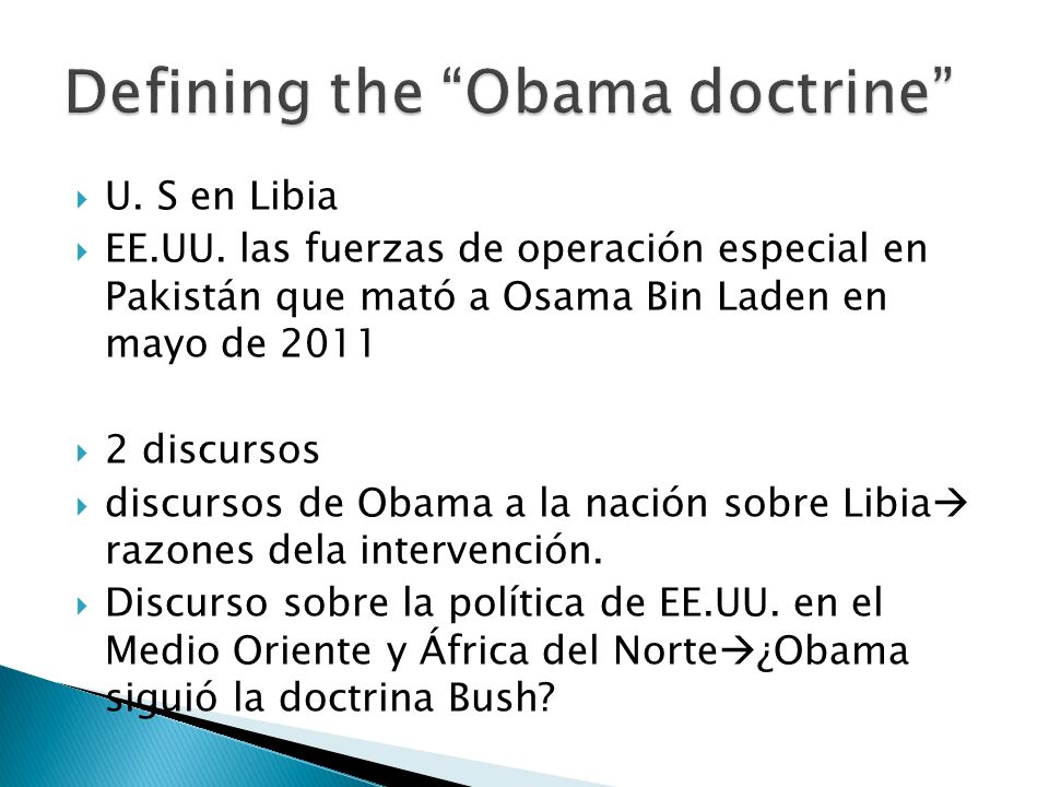 Defining the Obama doctrine