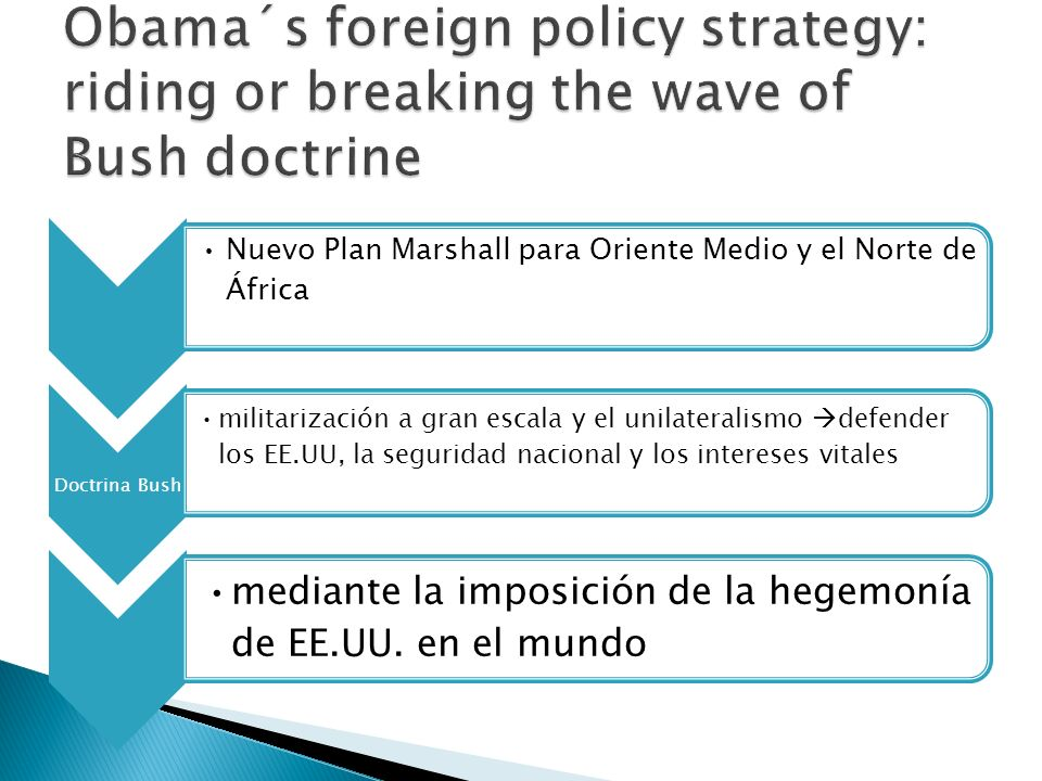 Obama´s foreign policy strategy: riding or breaking the wave of Bush doctrine