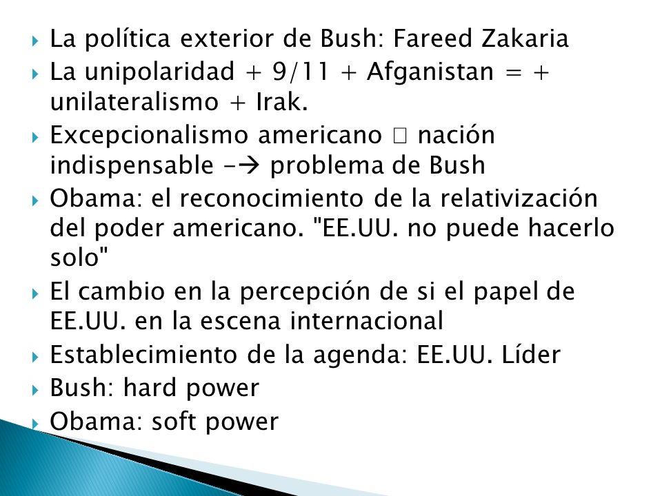 La política exterior de Bush: Fareed Zakaria