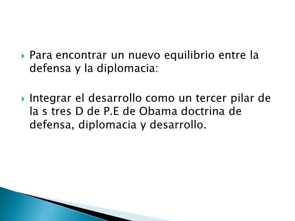 Para encontrar un nuevo equilibrio entre la defensa y la diplomacia: