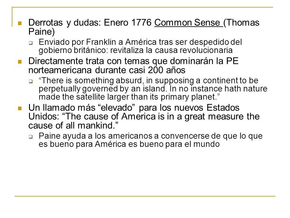 Derrotas y dudas: Enero 1776 Common Sense (Thomas Paine)