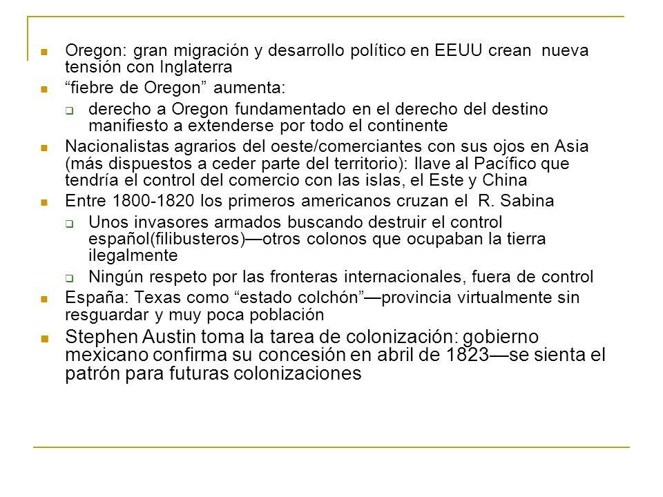 Oregon: gran migración y desarrollo político en EEUU crean nueva tensión con Inglaterra