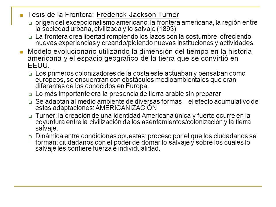 Tesis de la Frontera: Frederick Jackson Turner—