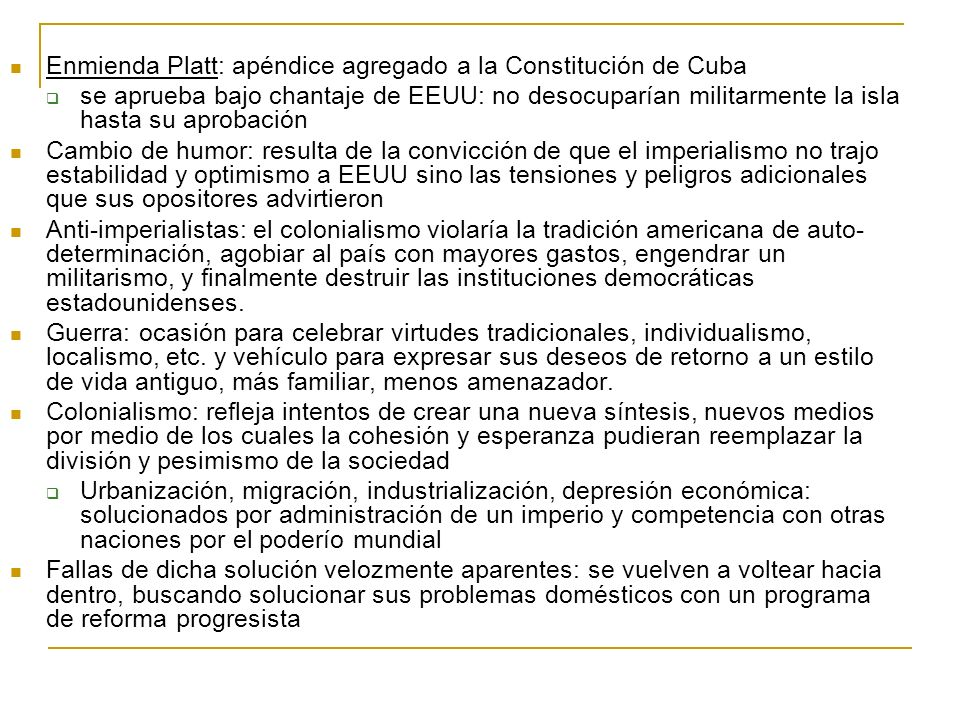 Enmienda Platt: apéndice agregado a la Constitución de Cuba