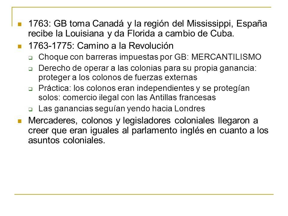 1763-1775: Camino a la Revolución