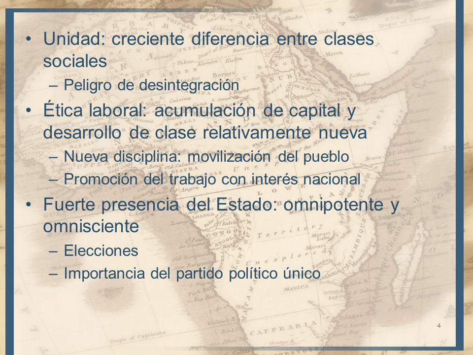 Unidad: creciente diferencia entre clases sociales