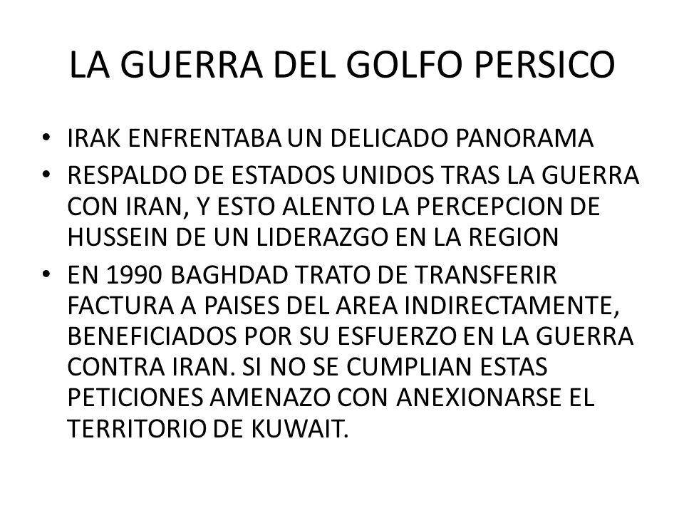 LA GUERRA DEL GOLFO PERSICO