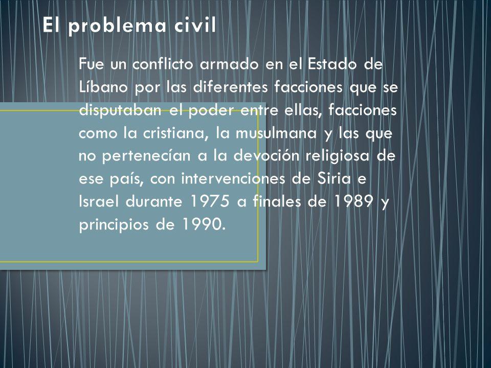 El problema civil