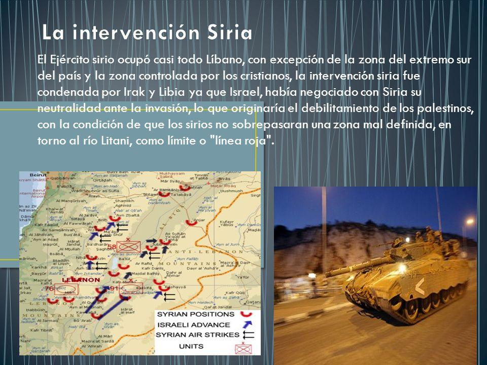 La intervención Siria
