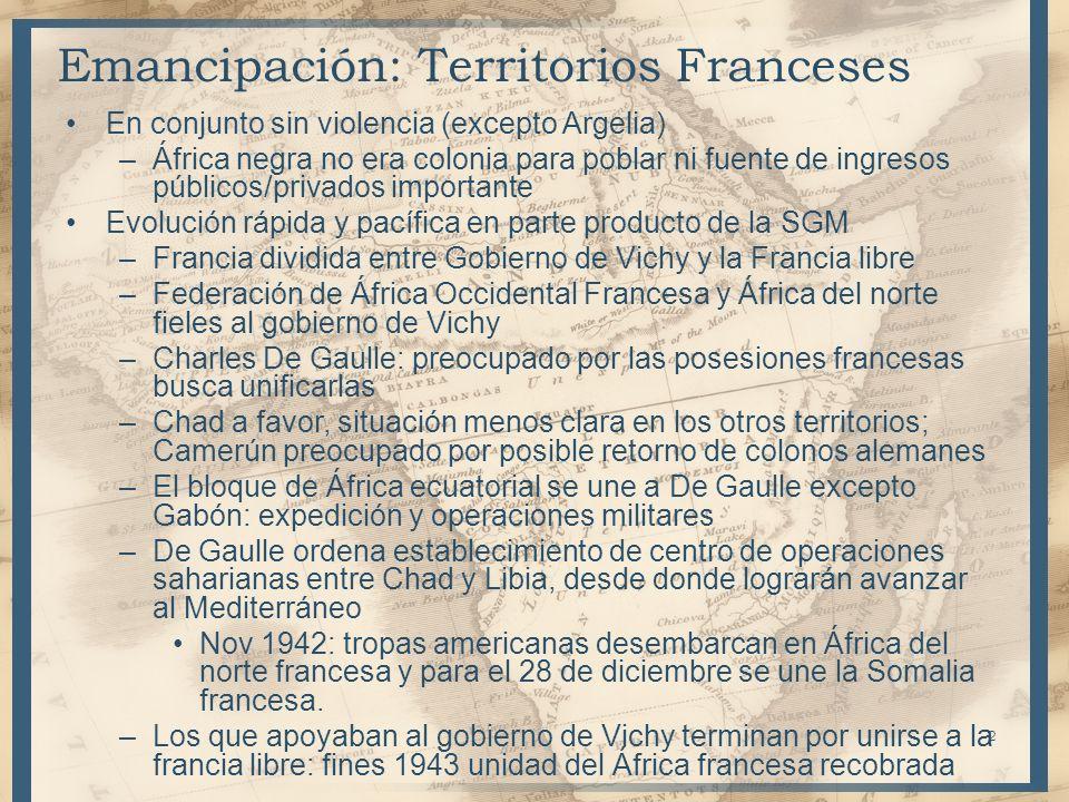 Emancipación: Territorios Franceses