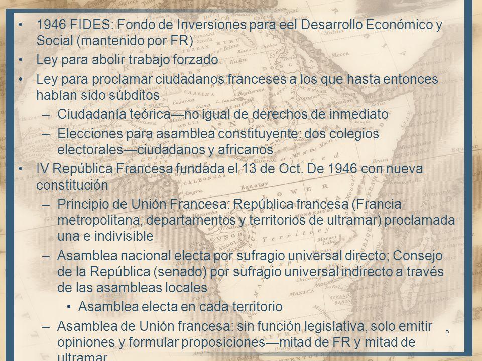 1946 FIDES: Fondo de Inversiones para eel Desarrollo Económico y Social (mantenido por FR)